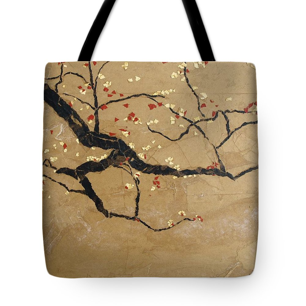 Blooming Branch Tote Bag featuring the painting Branch by Leah Tomaino