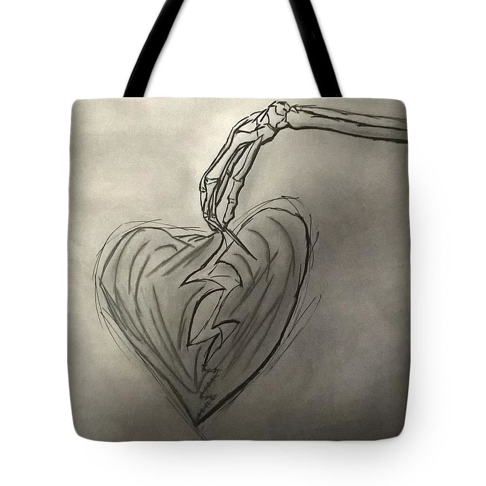 Drawing Tote Bag featuring the photograph Broken Heart Mended by Ariana Torralba