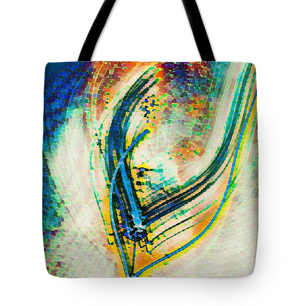 Abstract Art Tote Bag featuring the drawing Brush Stroke by Vickie Hibler