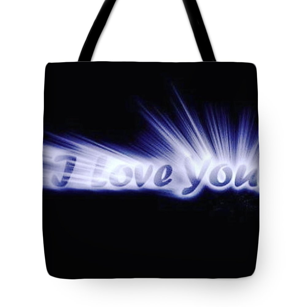 Love Tote Bag featuring the digital art Burst Of Love by Ariana Torralba