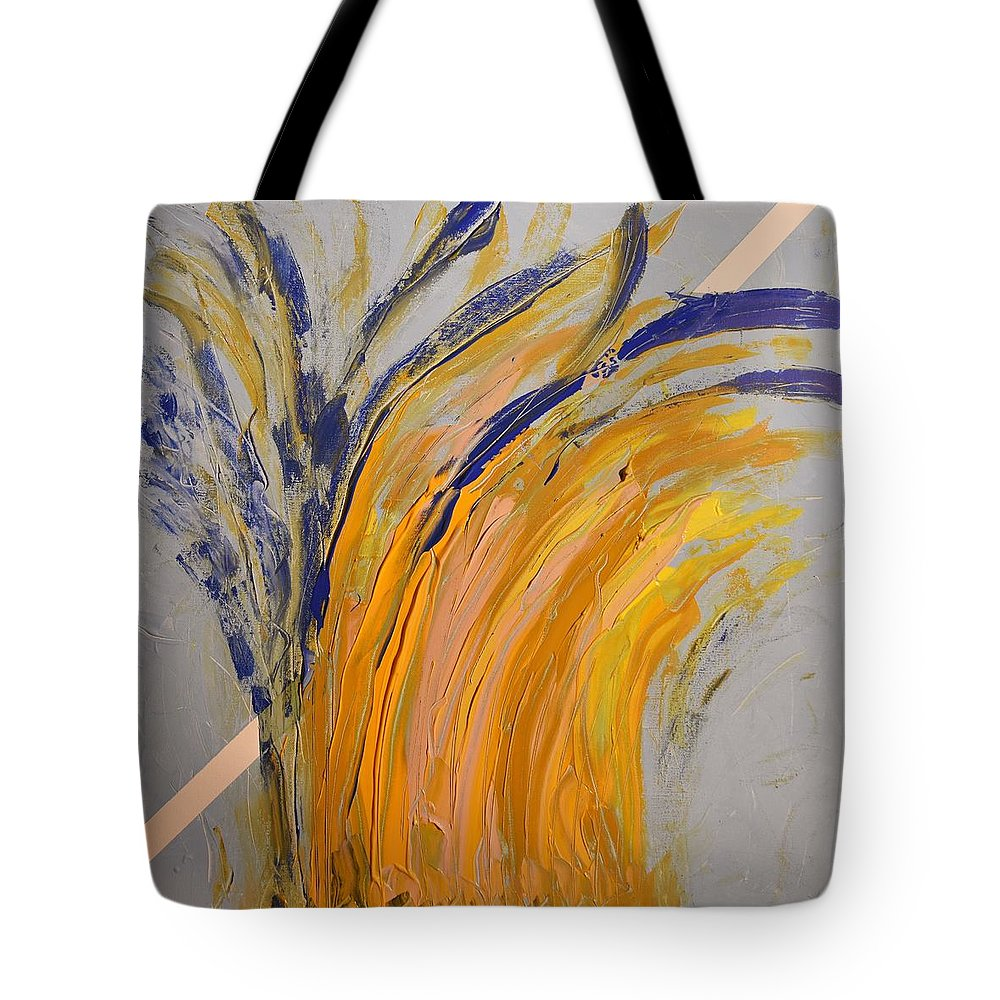 Colorado Tote Bag featuring the painting Bursting by Pam Roth O'Mara