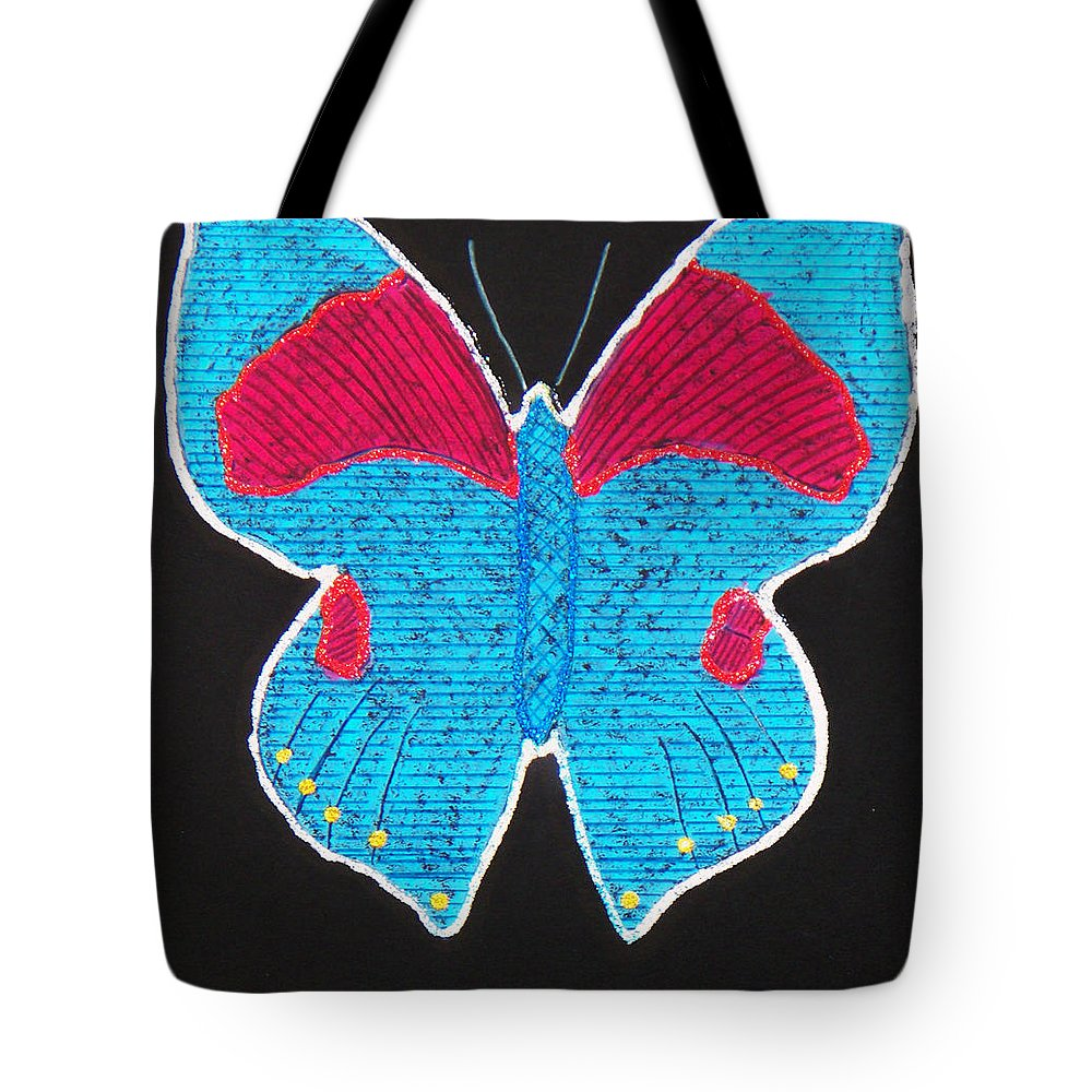 Drawing Tote Bag featuring the mixed media Butterfly by Sergey Bezhinets