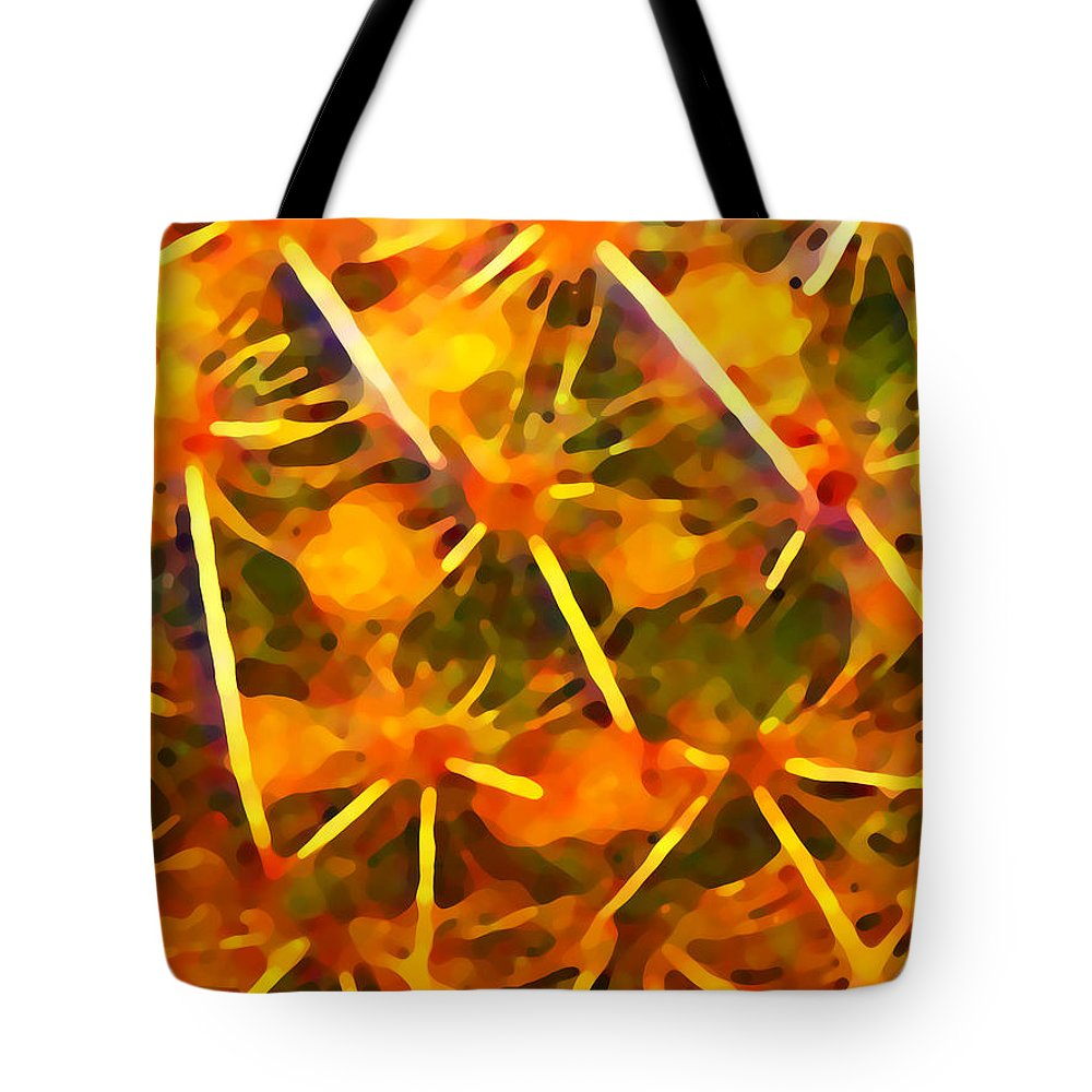 Abstract Tote Bag featuring the painting Cactus Pattern by Amy Vangsgard