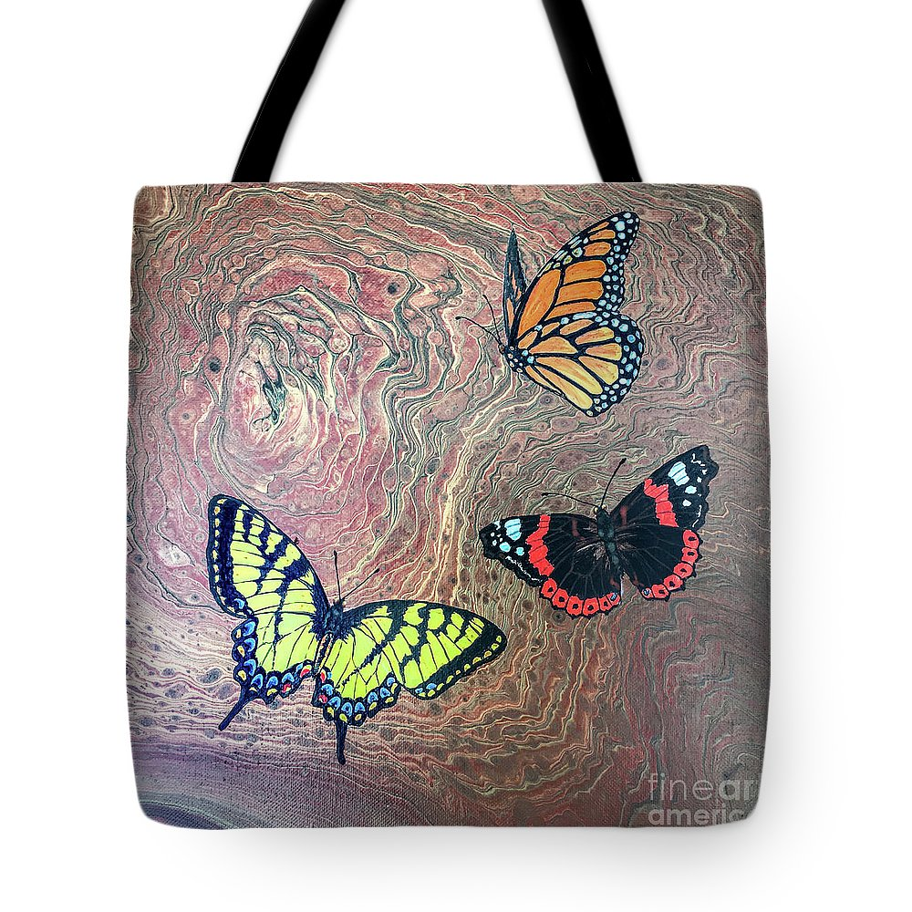 Butterflies Tote Bag featuring the painting California Butterflies by Lucy Arnold