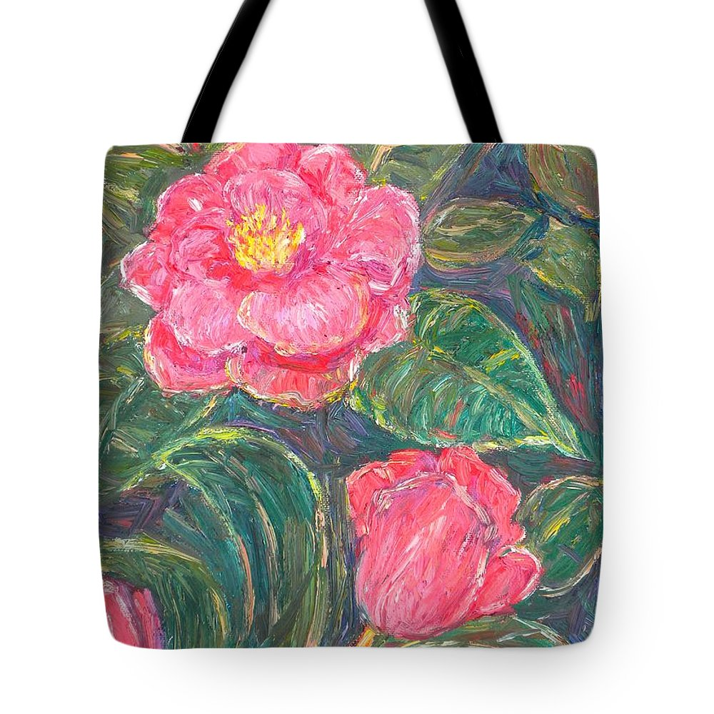 Impressionism Tote Bag featuring the painting Camelias by Kendall Kessler