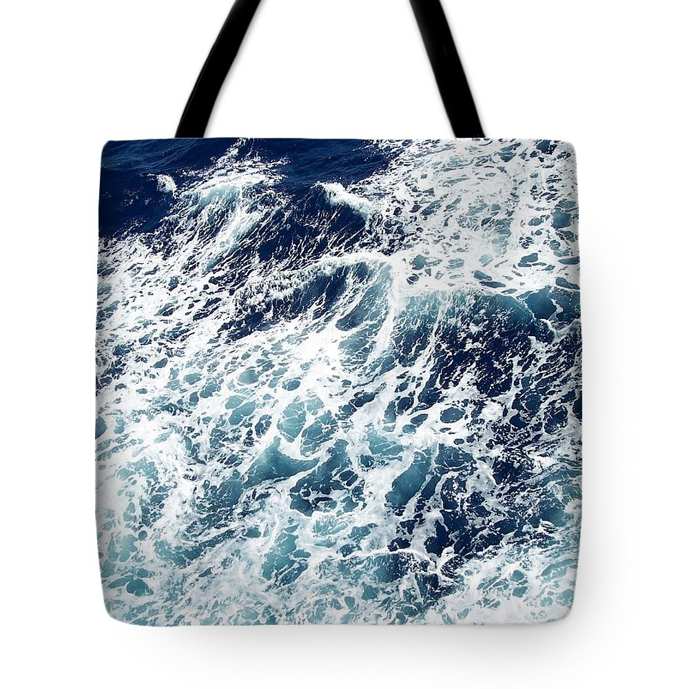 Waves Tote Bag featuring the photograph Caribbean Waves by Michelle Miron-Rebbe