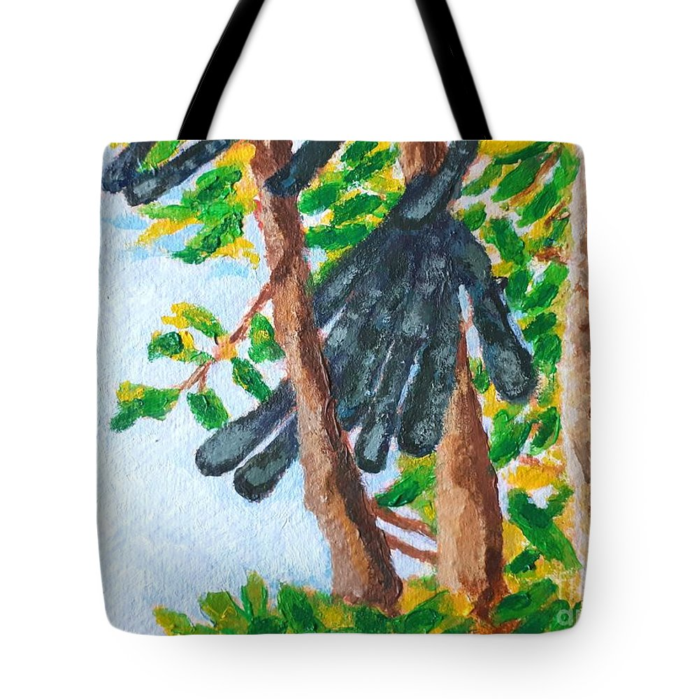 Carob Tote Bag featuring the painting Carob by Caroline Cunningham