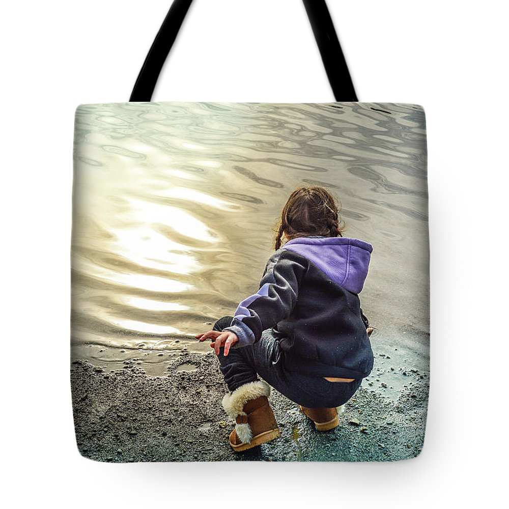Child Tote Bag featuring the photograph Chasing River Rainbows by Cindy Nunn