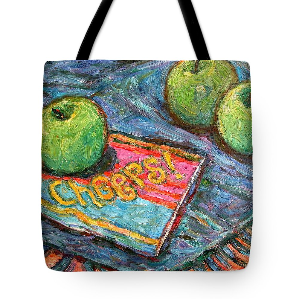 Still Life Tote Bag featuring the painting Cheers by Kendall Kessler