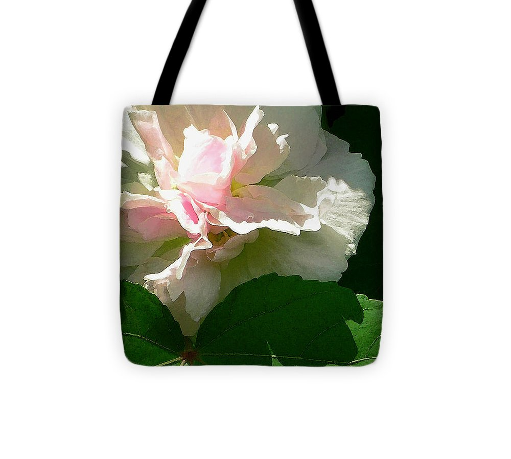 China Rose Tote Bag featuring the photograph China Rose 1 by James Temple