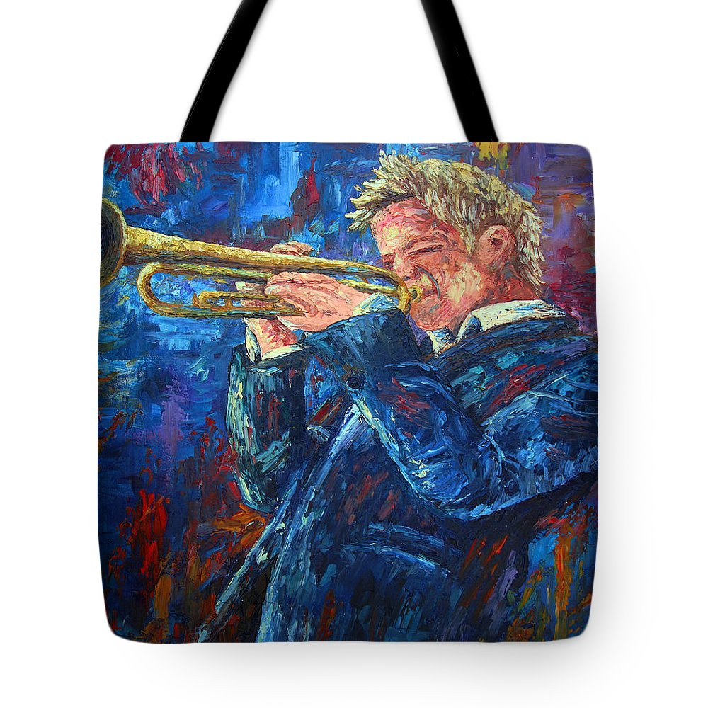 Jazz Tote Bag featuring the painting Chris Botti by David G Paul