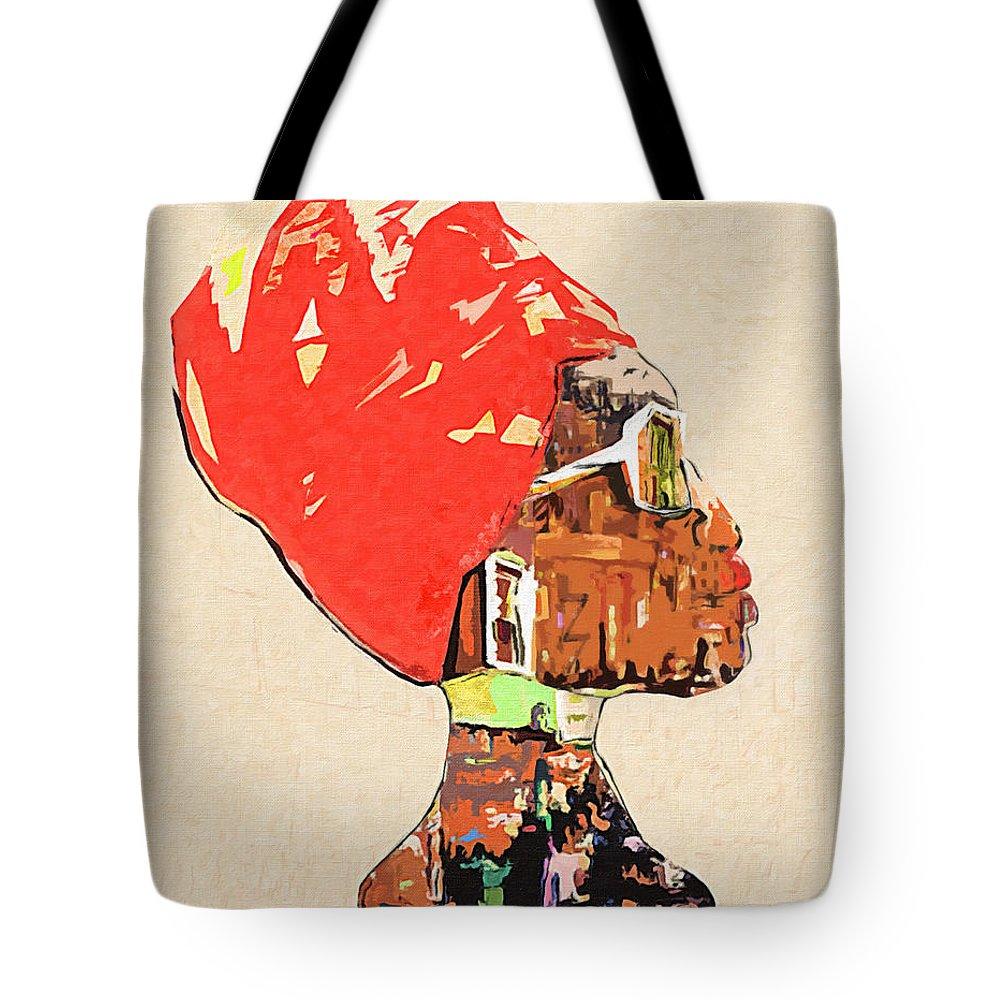 City Girl Tote Bag featuring the digital art City Girl by Regina Wyatt