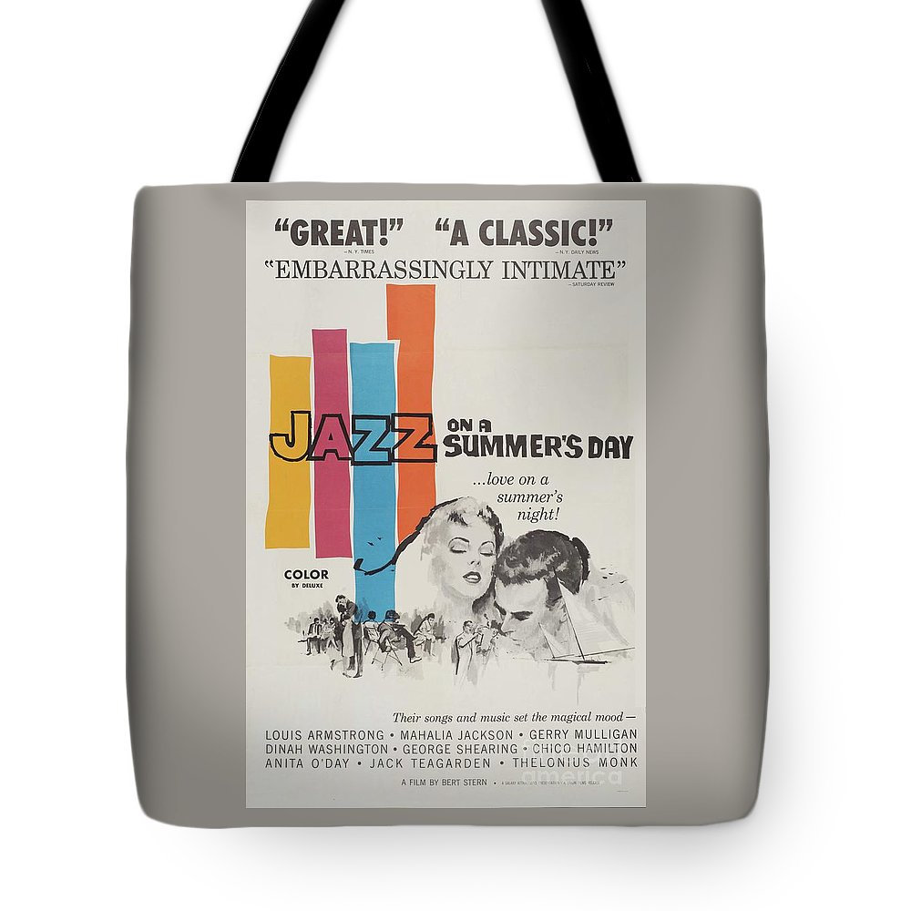 Jazz Tote Bag featuring the mixed media Classic Movie Poster - Jazz On A Summers Day by Esoterica Art Agency