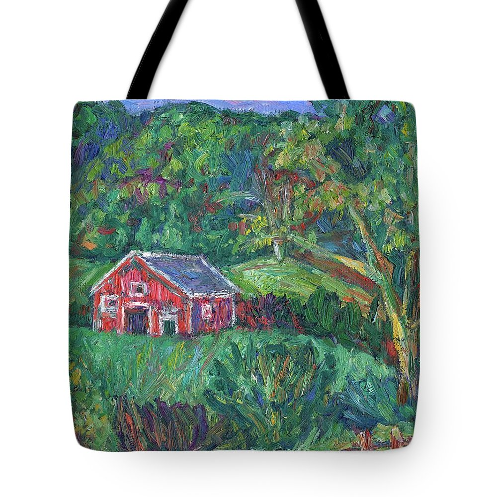 Rural Tote Bag featuring the painting Clover Hollow in Giles County by Kendall Kessler