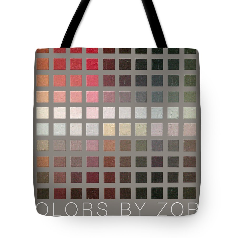Zorn Color Palette Tote Bag featuring the painting Colors By Zorn by Michael Lynn Adams