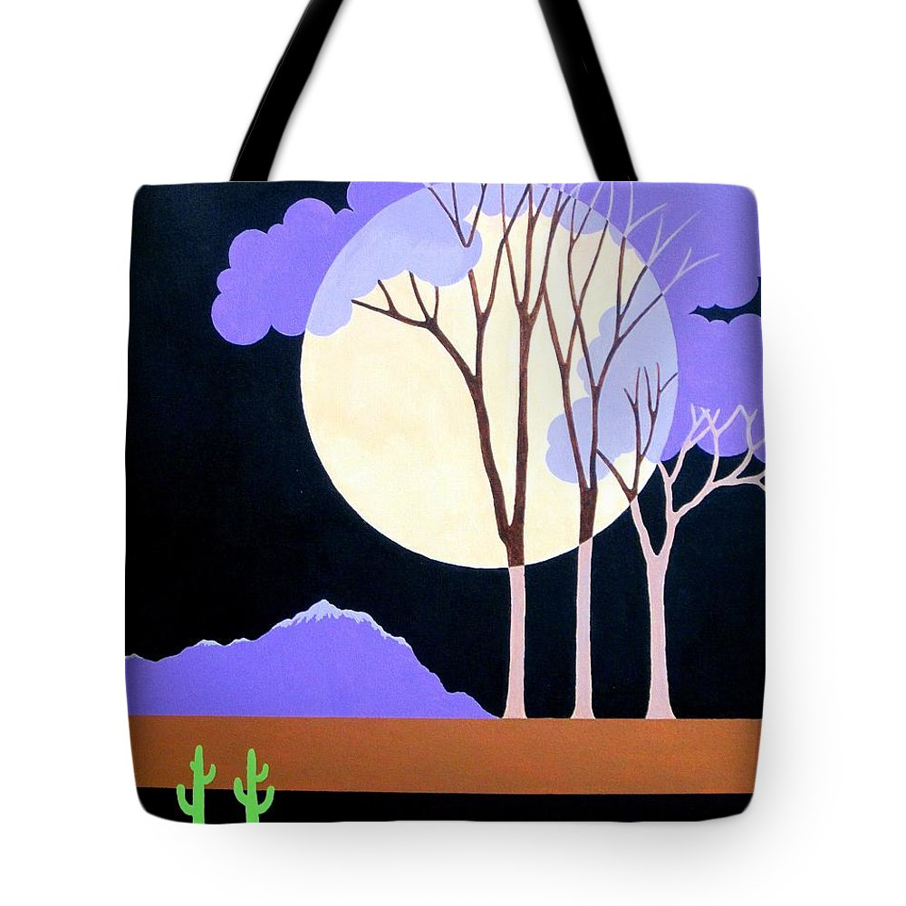 Contemporary Tote Bag featuring the painting Contemporary Landscape by Carol Sabo