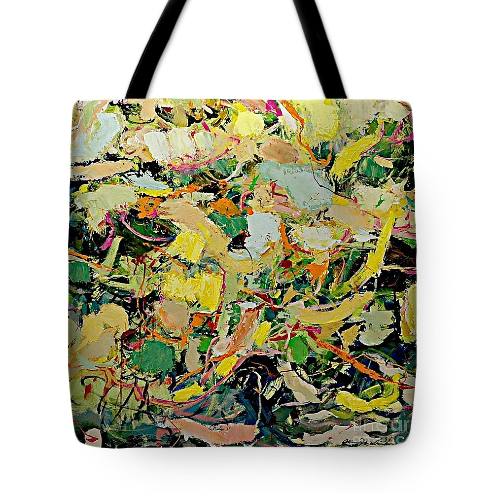 Landscape Tote Bag featuring the painting Cotton Blossom by Allan P Friedlander