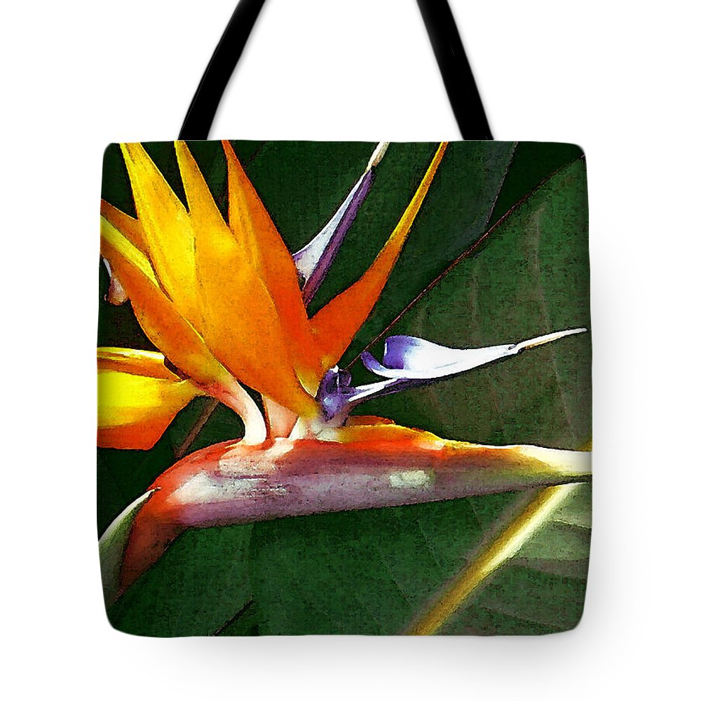 Bird Of Paradise Tote Bag featuring the photograph Crane Flower by James Temple