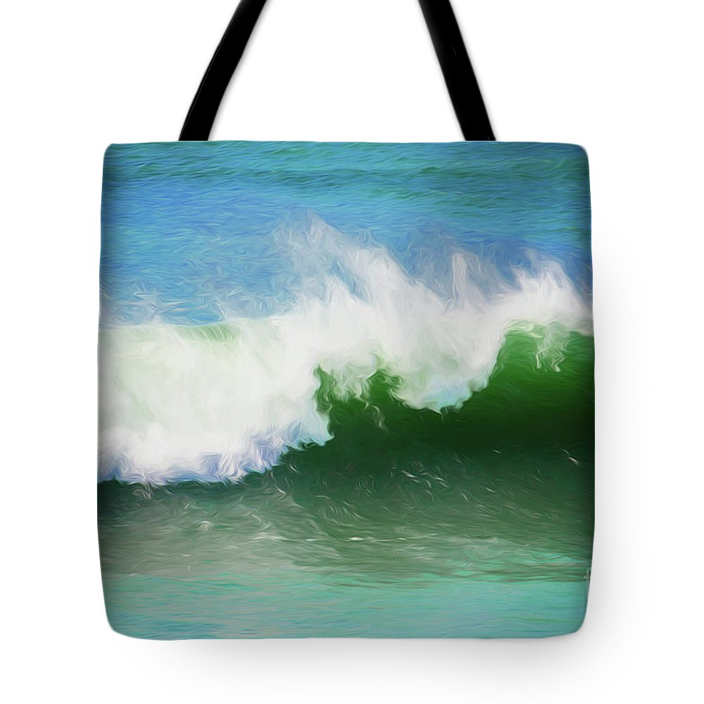 Surf Tote Bag featuring the photograph Crashing surf by Sheila Smart Fine Art Photography