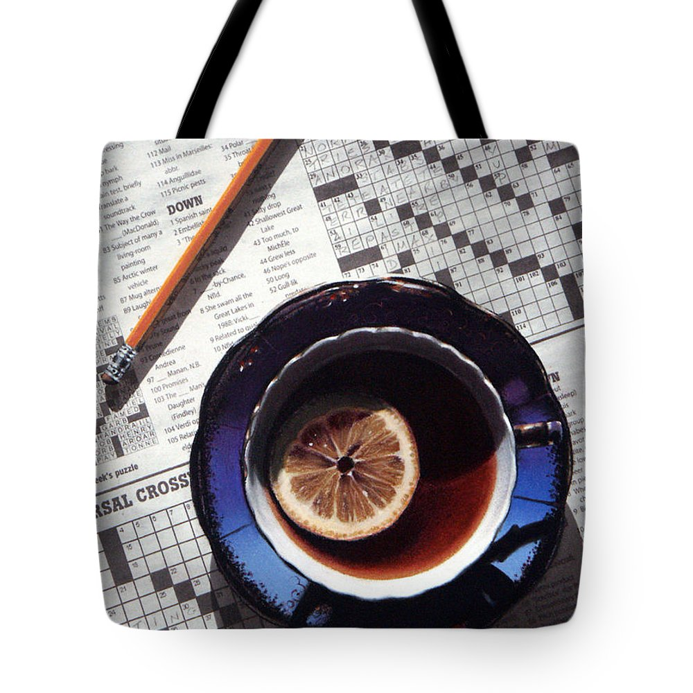 Still Life Tote Bag featuring the painting Crossword by Dianna Ponting