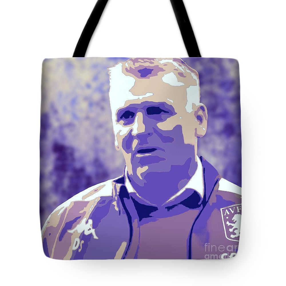 Aston Villa Tote Bag featuring the painting Dean Smith by Jack Bunds