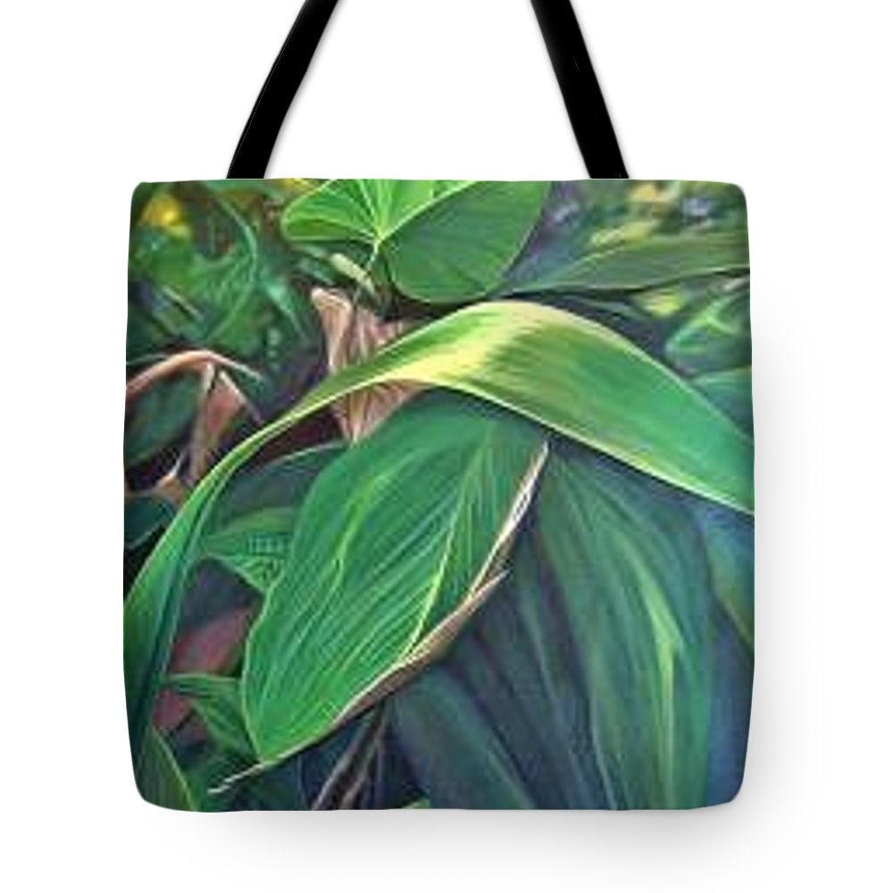 Barbados Tote Bag featuring the painting Deep In Barbados by Hunter Jay