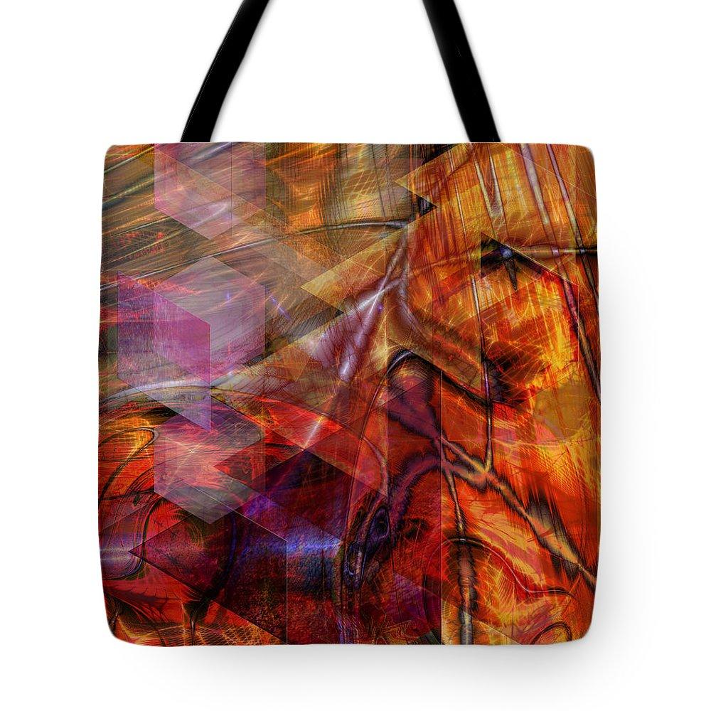 Deguello Sunrise Tote Bag featuring the digital art Deguello Sunrise by John Robert Beck