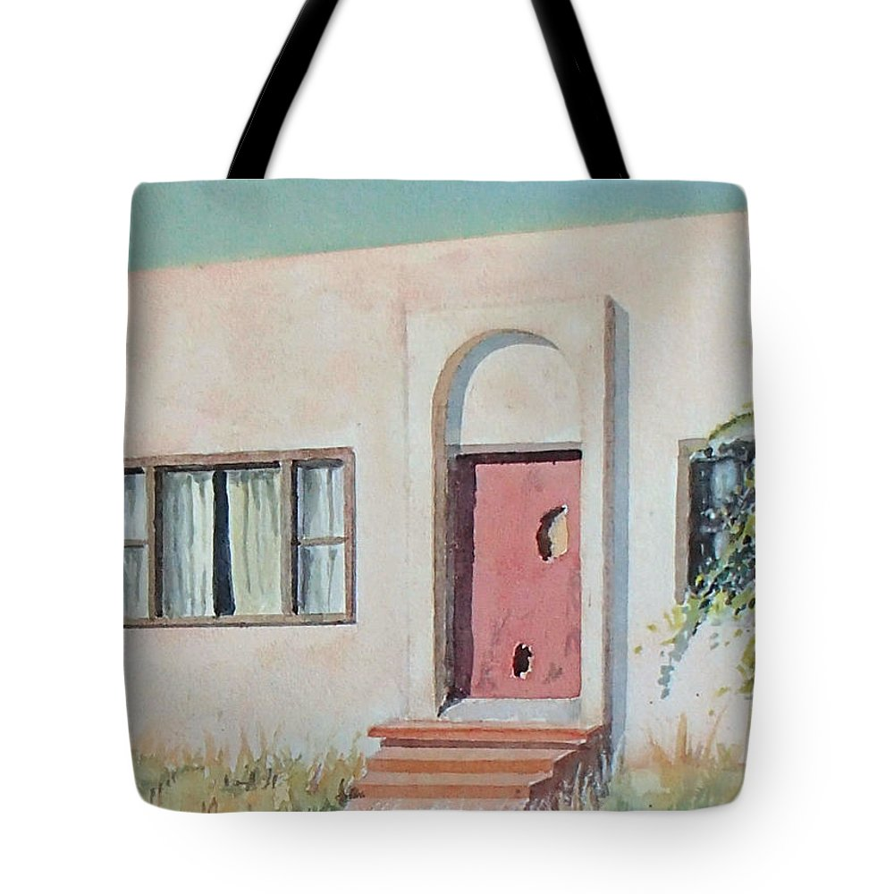 House Tote Bag featuring the painting Once was a Home by Philip Fleischer