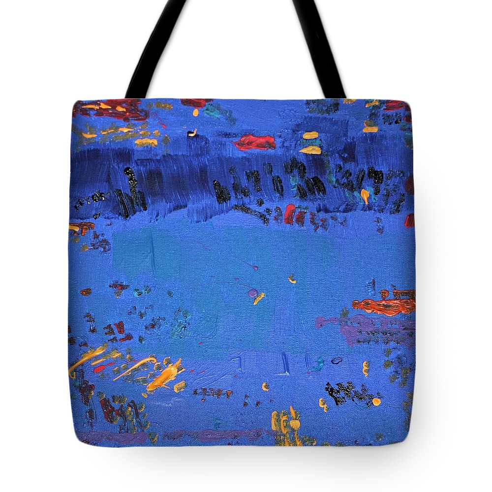 Blue Tote Bag featuring the painting Dry Heat by Pam Roth O'Mara