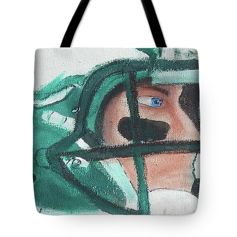 Eagles Tote Bag featuring the painting Eagle Eye by Jorge Delara
