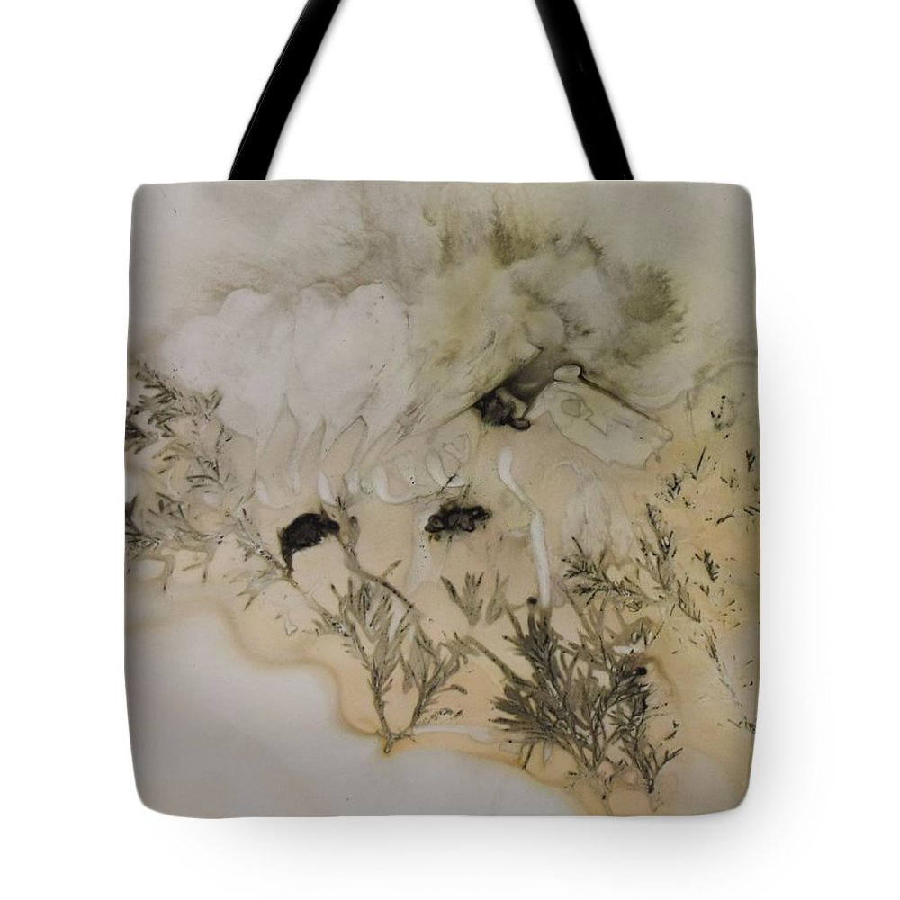 Nature Tote Bag featuring the mixed media Eco print 5 by Charla Van Vlack