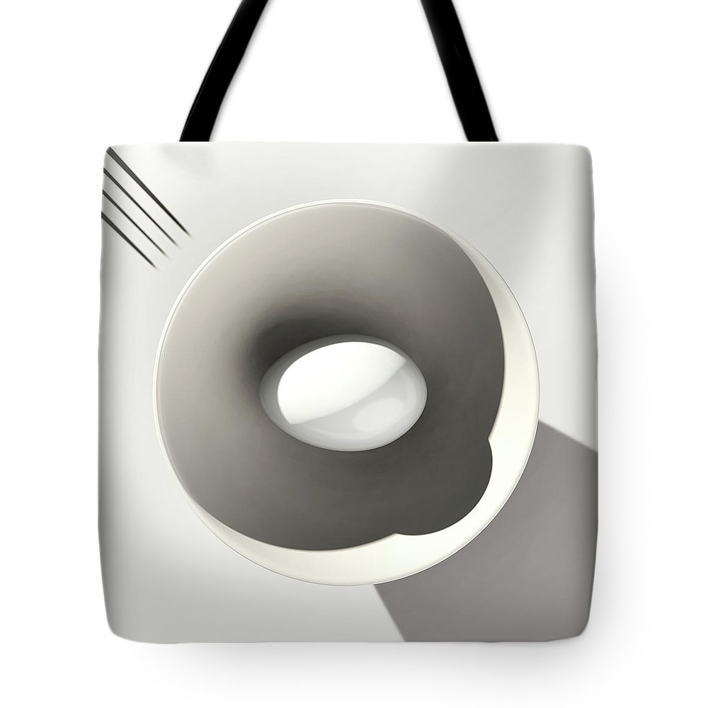 Egg Tote Bag featuring the digital art Egg and Bowl after Cesare Onestini by Heike Remy