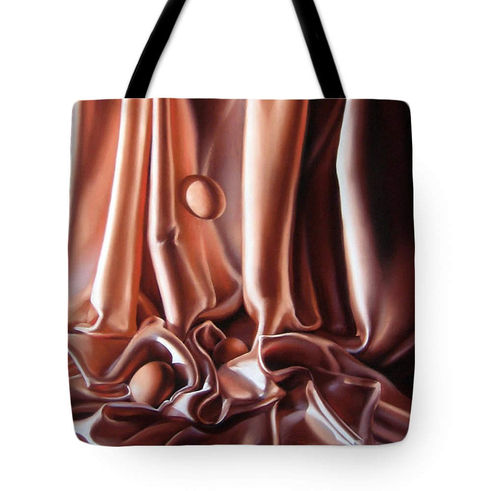Eggs Tote Bag featuring the painting Egg Falls by Dianna Ponting