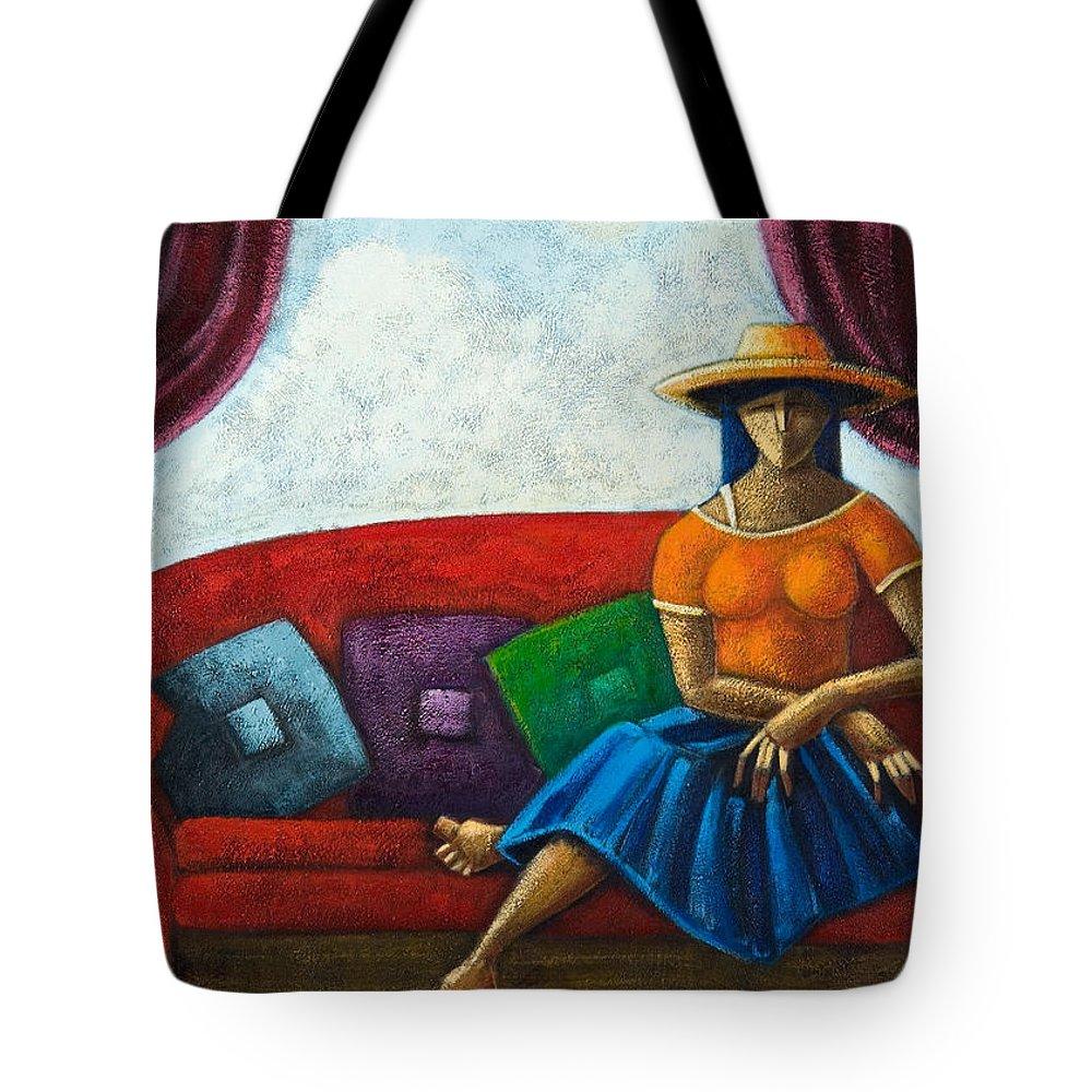Puerto Rico Tote Bag featuring the painting El Ultimo Romance Del Verano by Oscar Ortiz