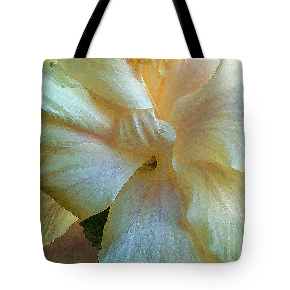 Hawaiian Flowers Tote Bag featuring the photograph Evening Hibiscus by James Temple