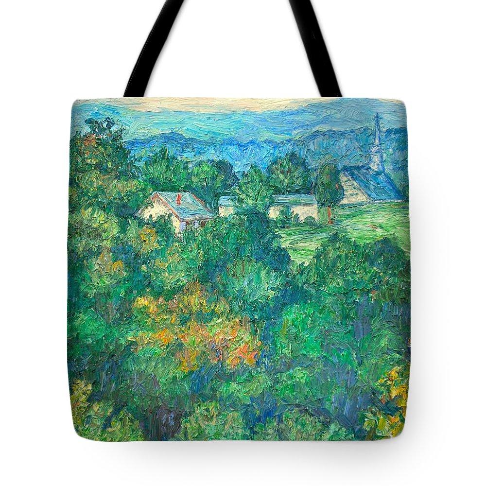 Kendall Kessler Tote Bag featuring the painting Fairlawn Ridge by Kendall Kessler