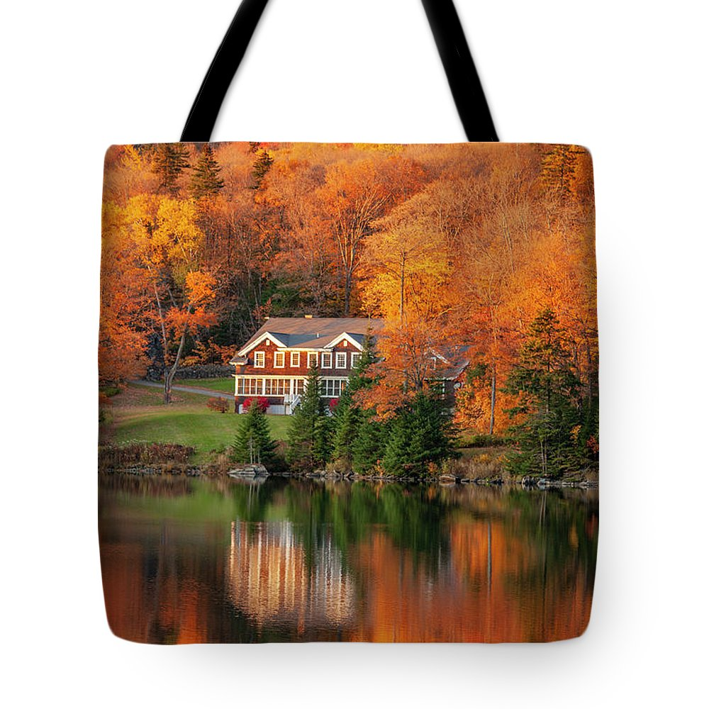 Fall Tote Bag featuring the photograph Fall Foliage Dixville Notch New Hampshire by Trevor Slauenwhite