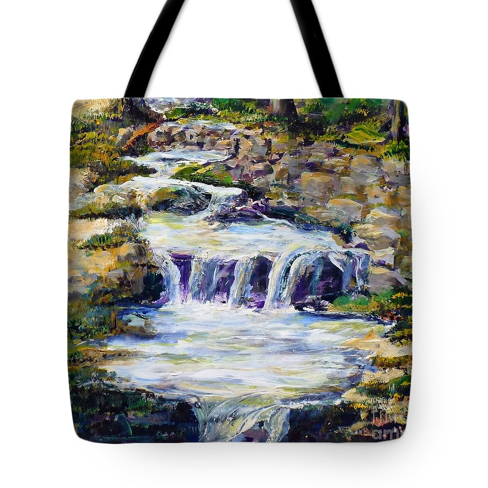 Los Angeles Tote Bag featuring the painting Fern Dell Creek Noon by Randy Sprout