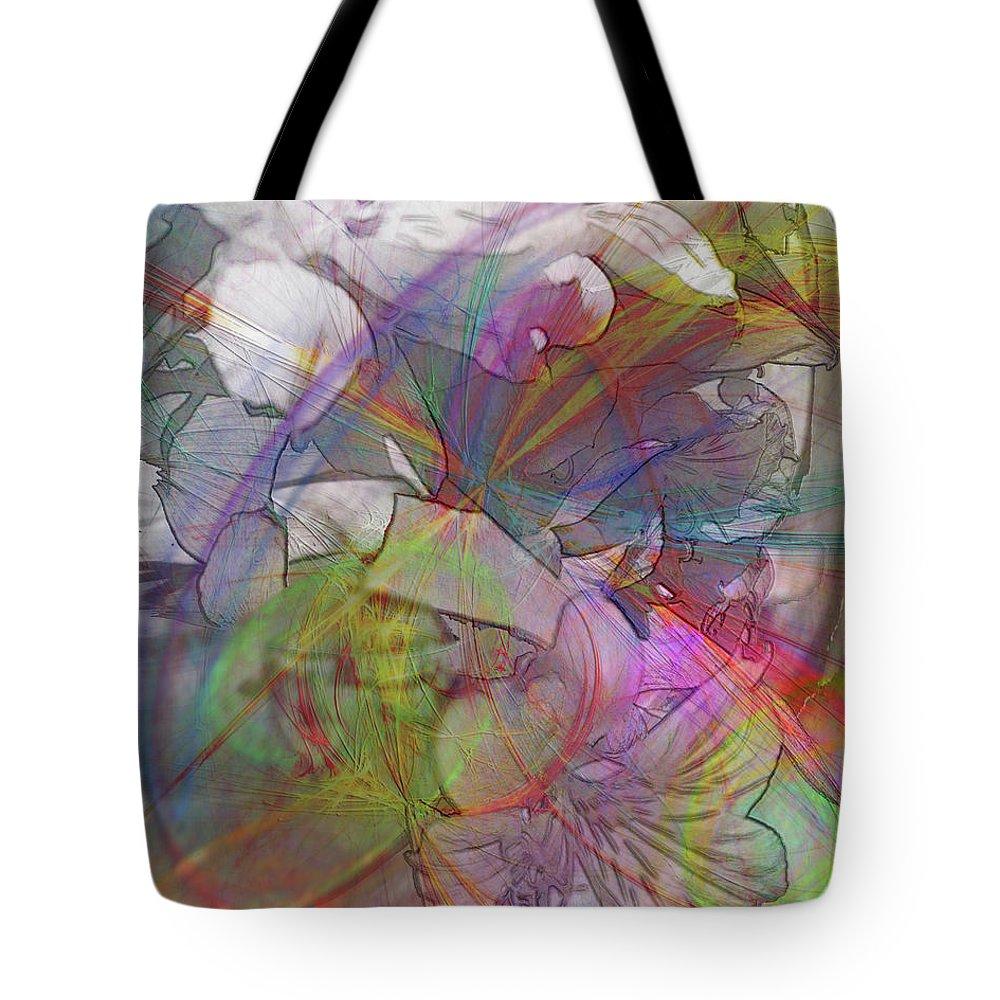 Floral Fantasy Tote Bag featuring the digital art Floral Fantasy by John Robert Beck