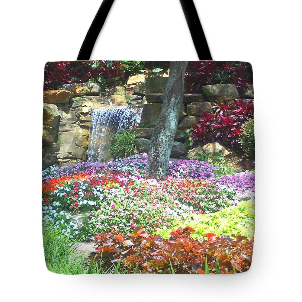 Garden Tote Bag featuring the photograph Floral Garden by Pharris Art