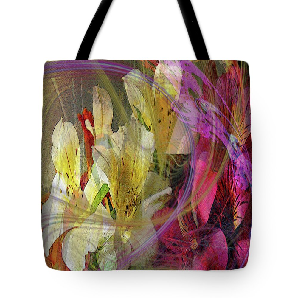 Floral Inspiration Tote Bag featuring the digital art Floral Inspiration by John Robert Beck