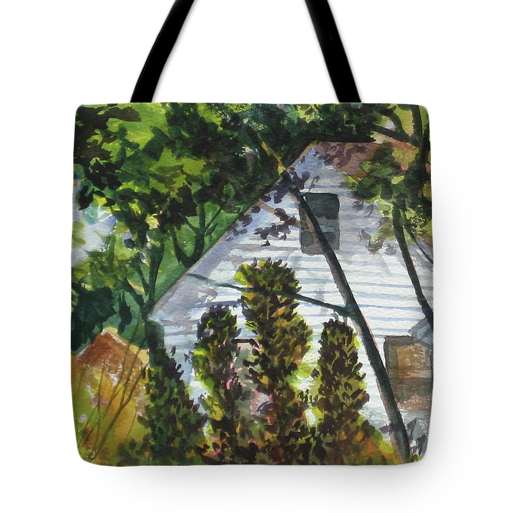 Tote Bag featuring the painting Fond du Lac 1 - Original watercolor 15x11 by Doug Jerving