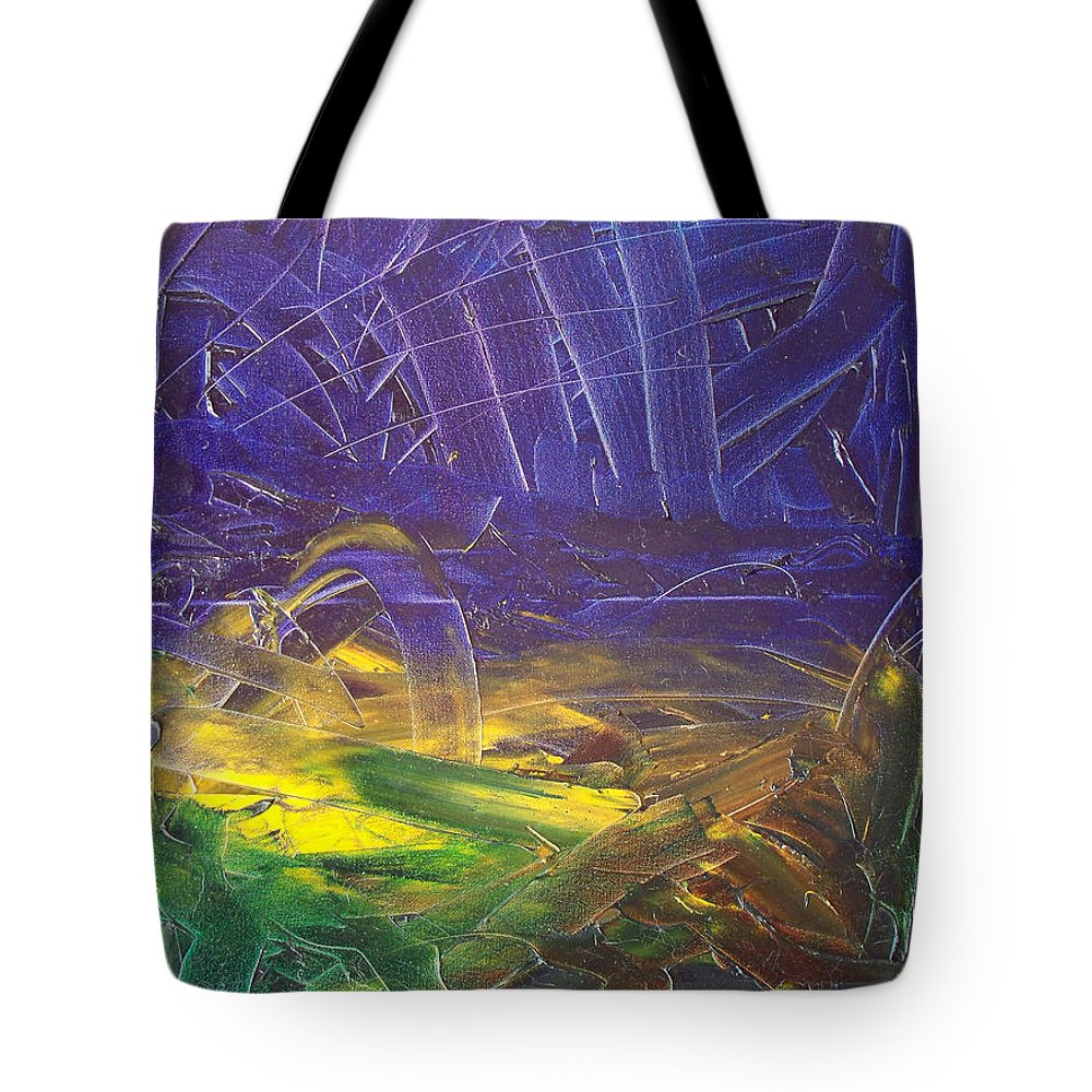 Painting Tote Bag featuring the painting Forest. Part2 by Sergey Bezhinets