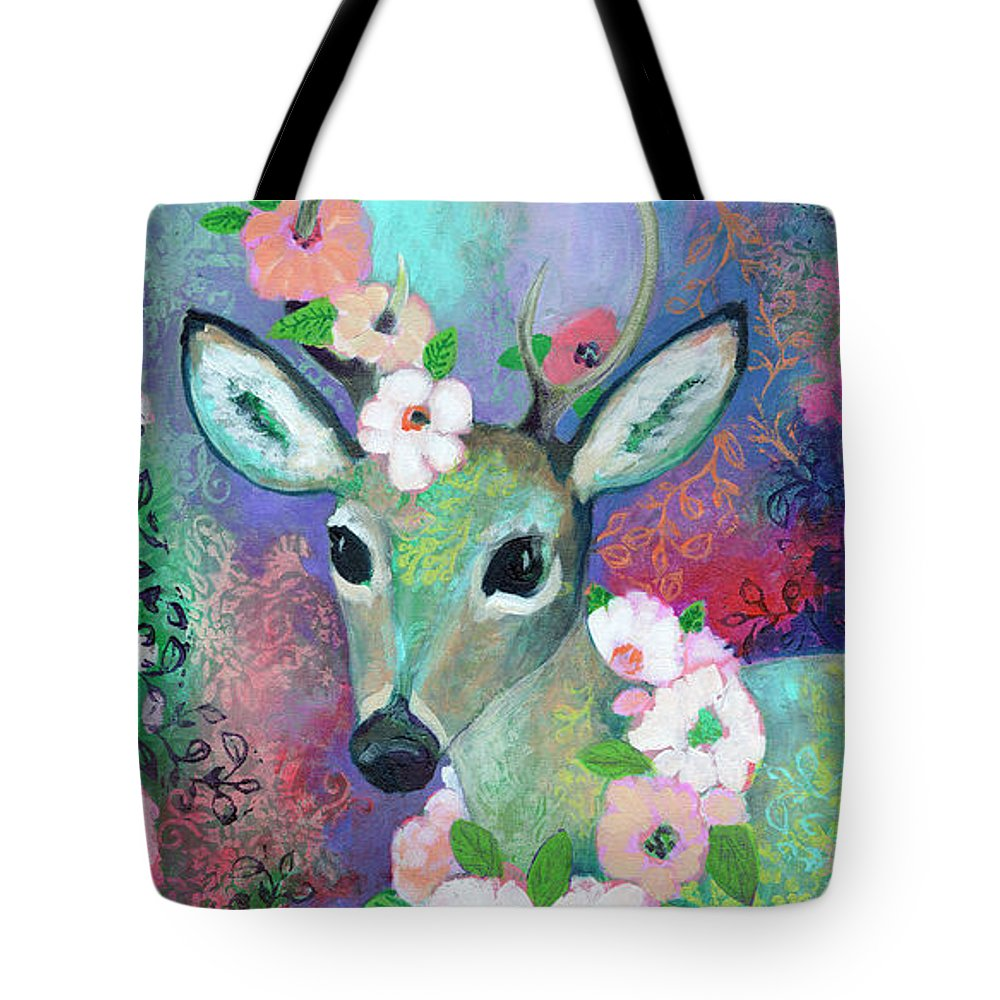 Bambi Paintings Tote Bags