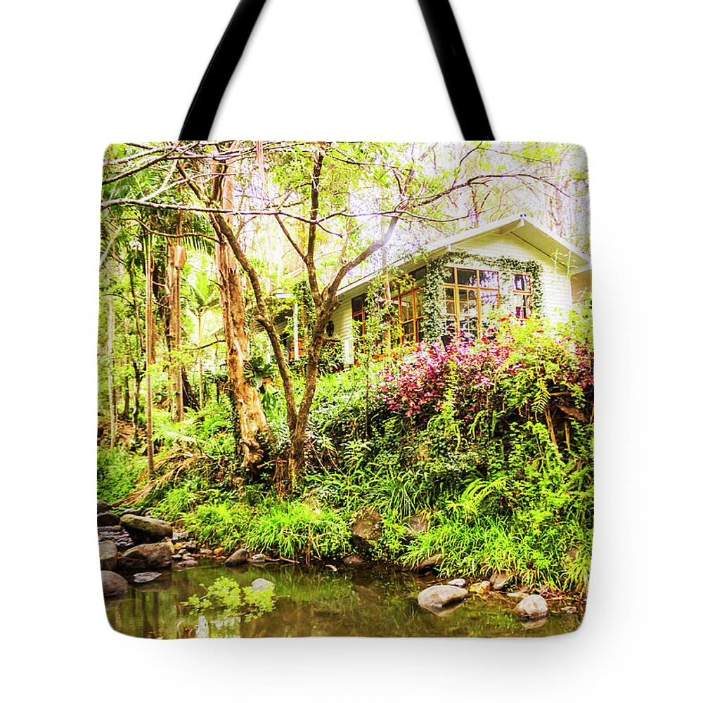 Green Tote Bag featuring the photograph Forest Retreat by Jorgo Photography - Wall Art Gallery