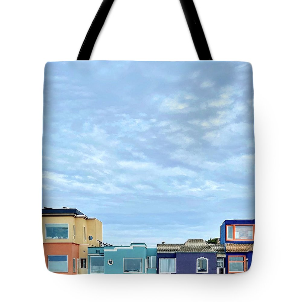 Tote Bag featuring the photograph Four Houses by Julie Gebhardt