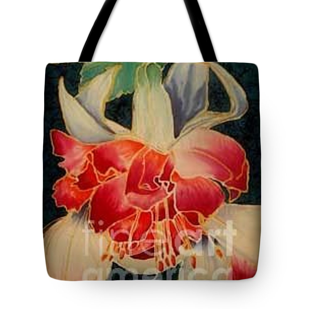 Fucshia Tote Bag featuring the painting Fucshia 2 by Francine Dufour Jones