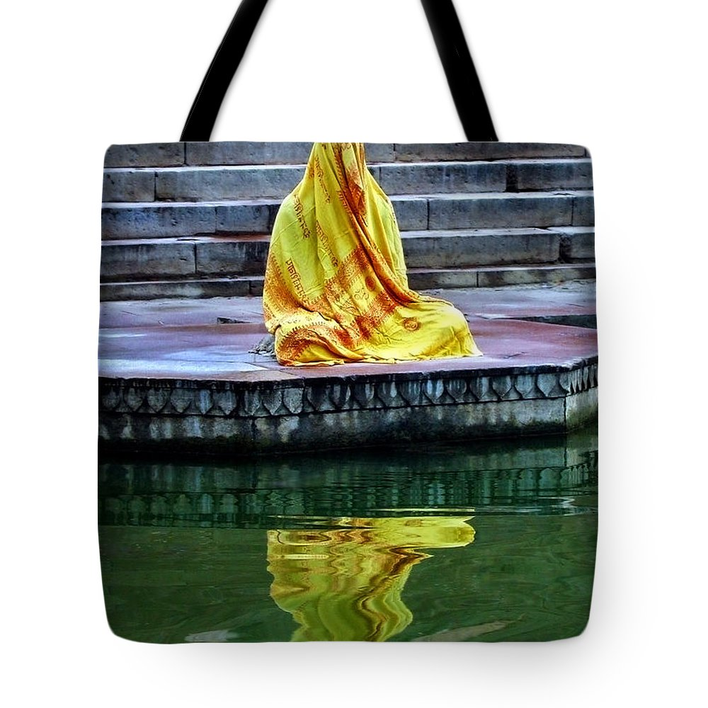 Meditate Tote Bag featuring the photograph Ganga Dream by Skip Hunt