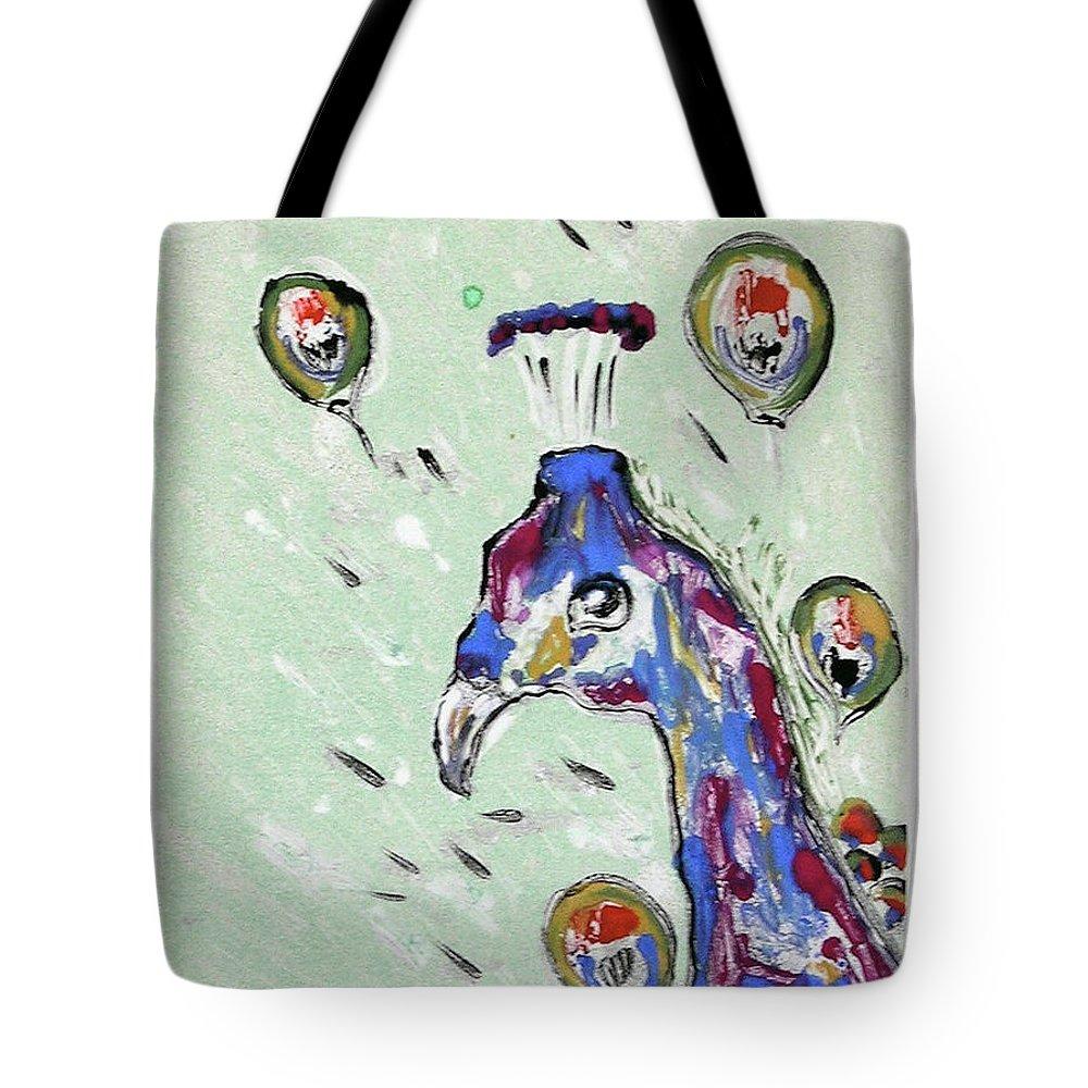Monotype Tote Bag featuring the mixed media Grand Splendor by Cori Solomon