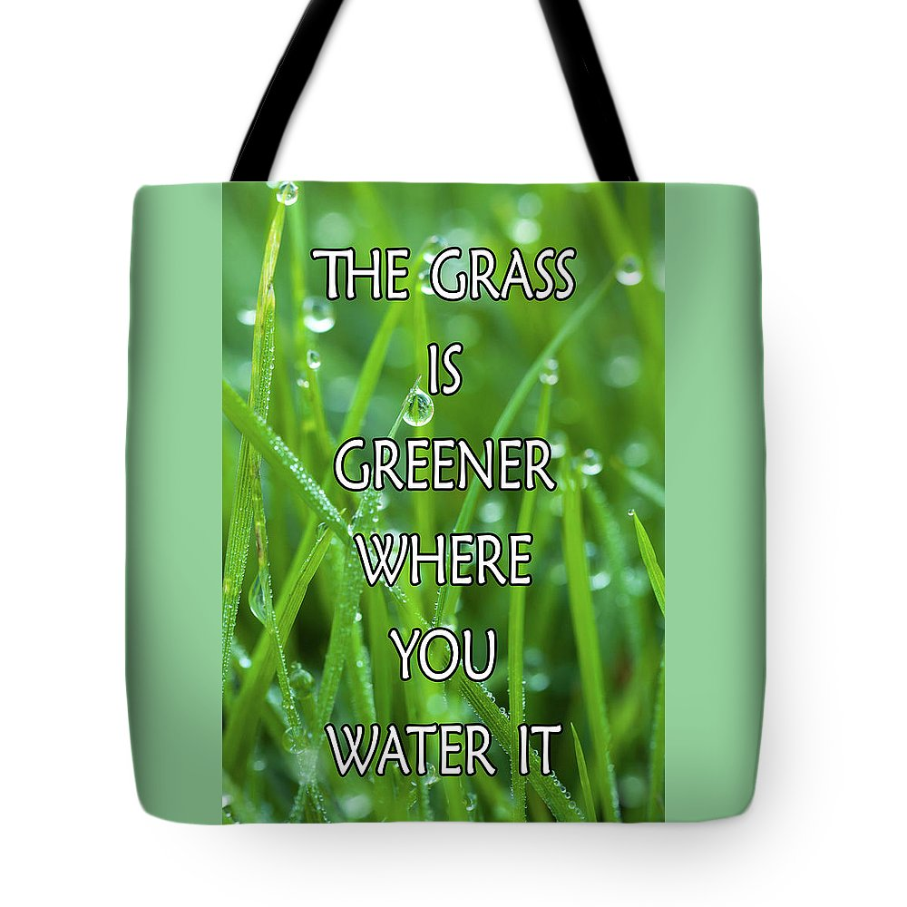 Green Tote Bag featuring the digital art Greener by Junction 116